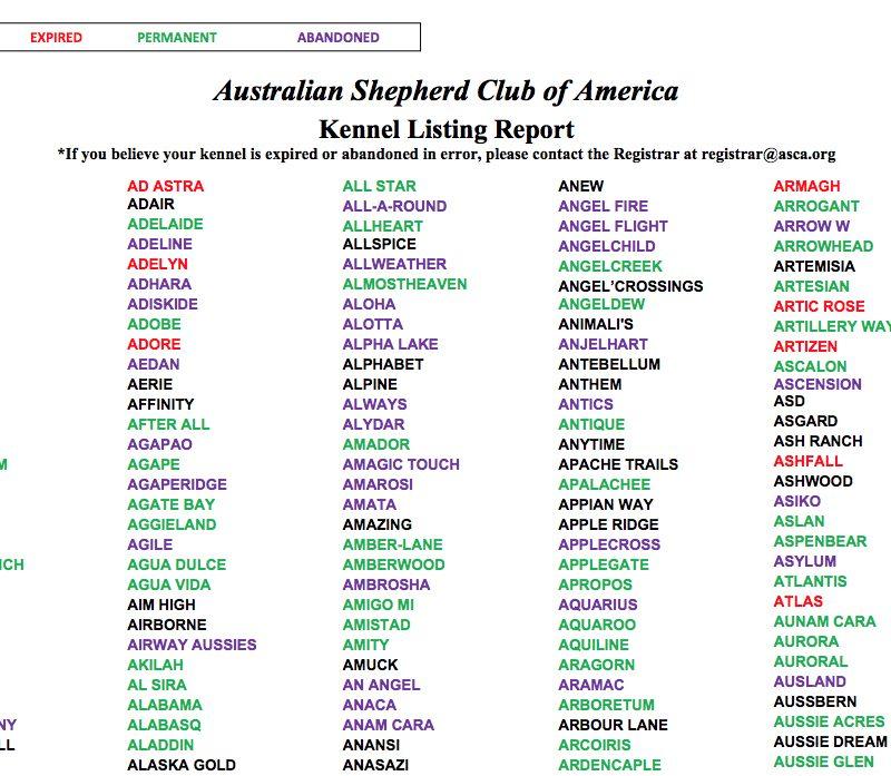 kennelnamelist 800x697 - ASCA Kennelname registrieren