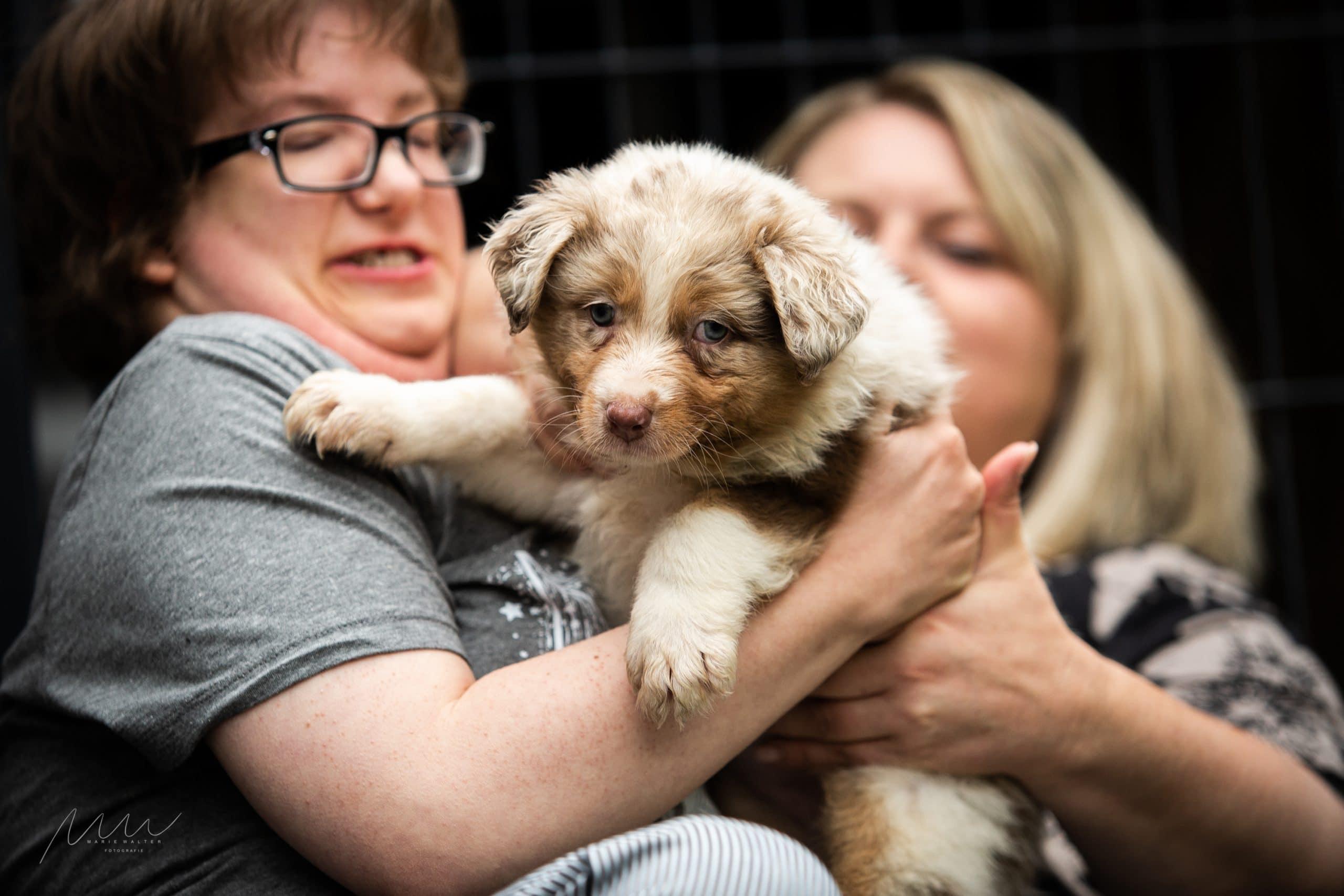 Handycap People zu Besuch Bild 3 - Einsatz als Therapiehund
