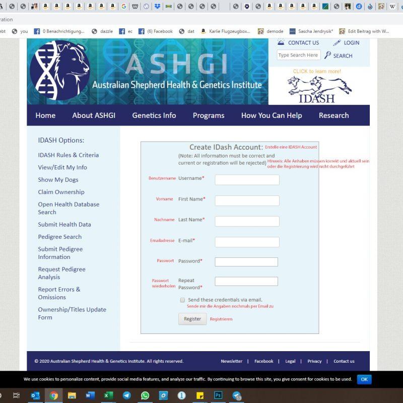 benutzer registrieren 800x800 - ASHGI IDASH Anleitung - Wie trage ich meinen erkrankten Aussie ein?