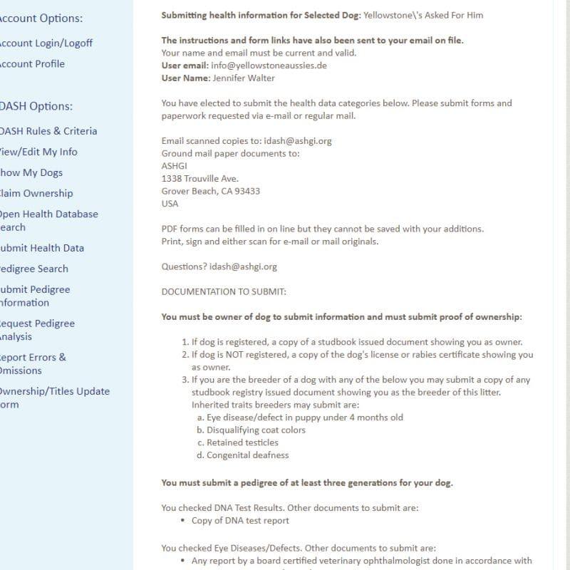 submit health data teil 6 800x800 - ASHGI IDASH Anleitung - Wie trage ich meinen erkrankten Aussie ein?